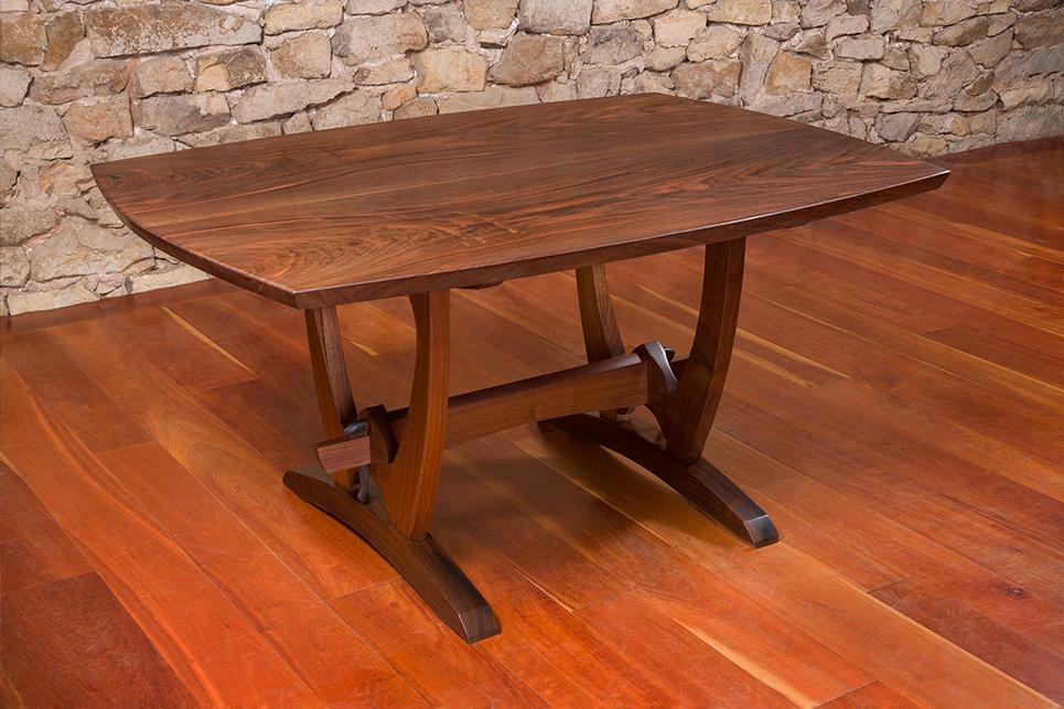 » Black Walnut Trestle Table